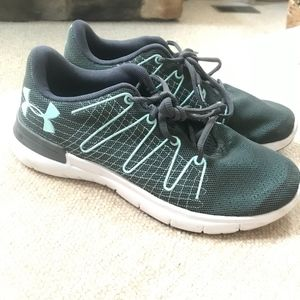 Under Armour Grey and Blue Shoe
